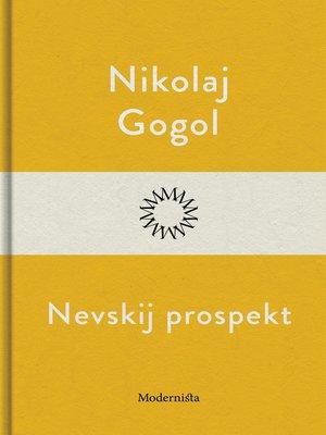 cover image of Nevskij prospekt