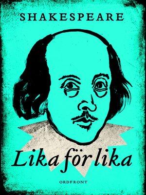 cover image of Lika för lika