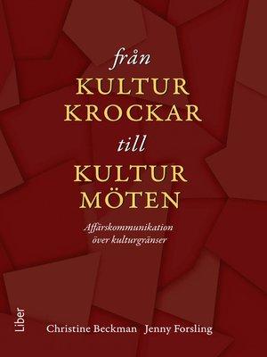 cover image of Från kulturkrockar till kulturmöten