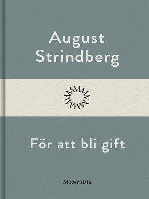 cover image of För att bli gift