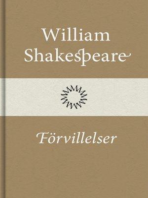 cover image of Förvillelser