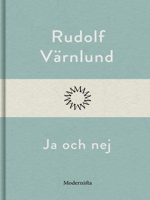 cover image of Ja och nej