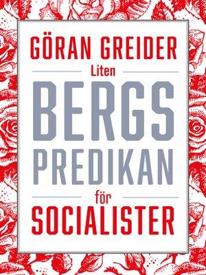 cover image of Liten bergspredikan för socialister