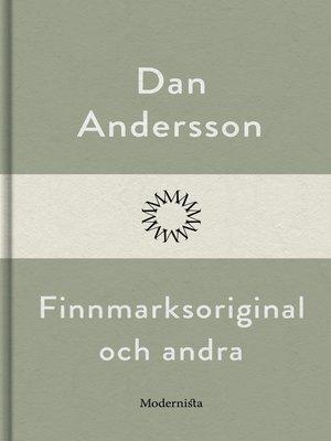 cover image of Finnmarksoriginal och andra