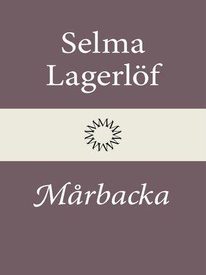 cover image of Mårbacka (Mårbacka I)