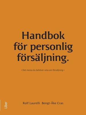 cover image of Handbok för personlig försäljning