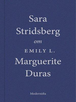 cover image of Om Emily L. av Marguerite Duras