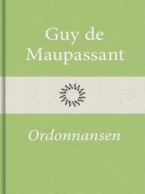 cover image of Ordonnansen