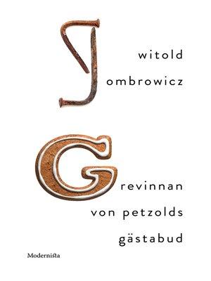 cover image of Grevinnan von Petzolds gästabud