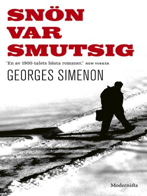 cover image of Snön var smutsig