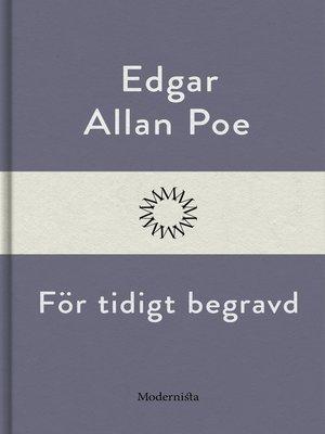 cover image of För tidigt begravd
