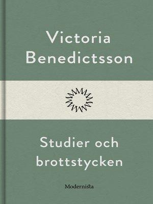 cover image of Studier och brottstycken