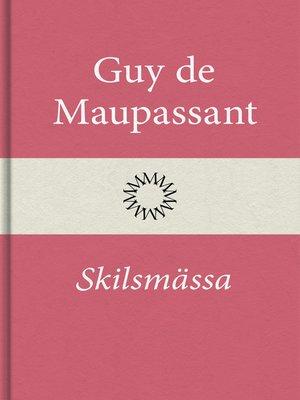 cover image of Skilsmässa