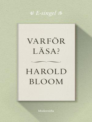 cover image of Varför läsa?