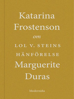 cover image of Om Lol V. Steins hänförelse av Marguerite Duras
