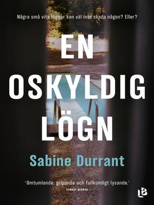 cover image of En oskyldig lögn