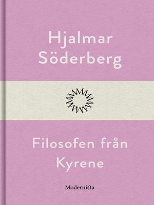 cover image of Filosofen från Kyrene