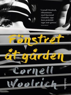 cover image of Fönstret åt gården och andra noveller