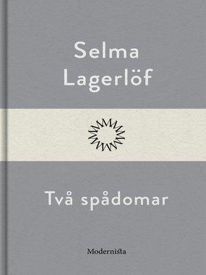 cover image of Två spådomar