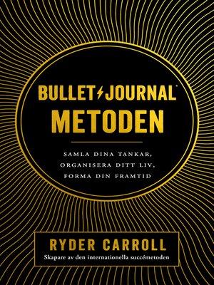 cover image of Bullet journal-metoden