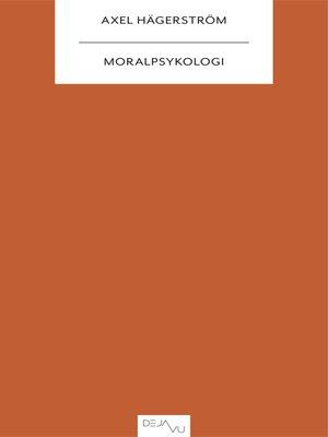cover image of Moralpsykologi