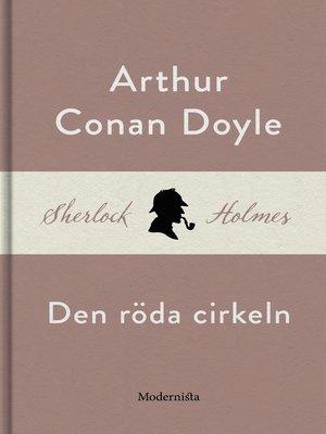 cover image of Den röda cirkeln (En Sherlock Holmes-novell)