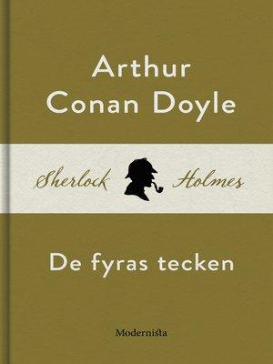 cover image of De fyras tecken (En Sherlock Holmes-roman)