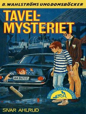 cover image of Tvillingdetektiverna 38--Tavel-mysteriet
