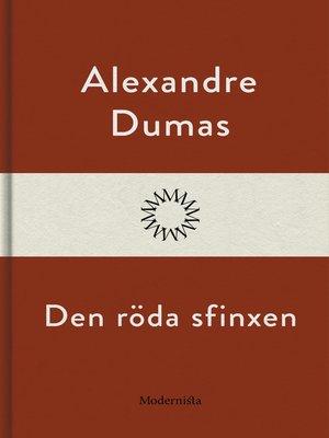 cover image of Den röda sfinxen