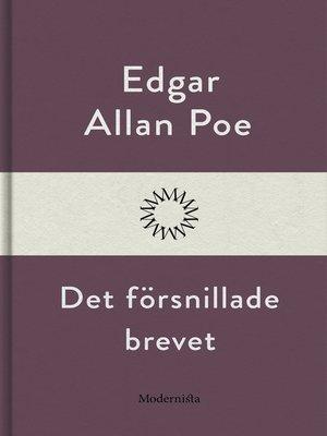 cover image of Det försnillade brevet