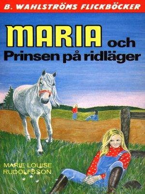 cover image of Maria 9--Maria och Prinsen på ridläger
