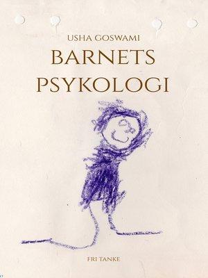 cover image of Barnets psykologi