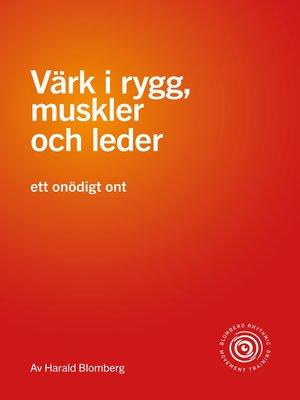 cover image of Värk i rygg, muskler och leder