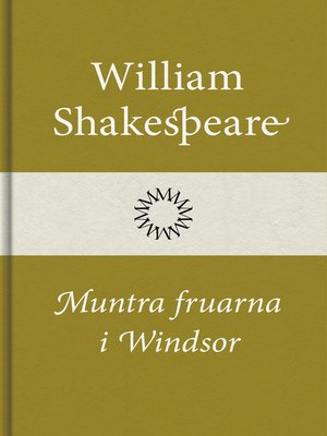 cover image of Muntra fruarna i Windsor