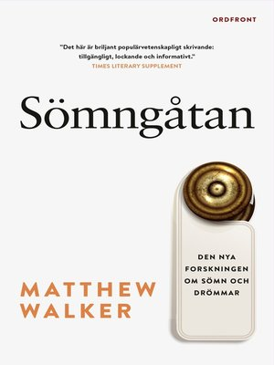 cover image of Sömngåtan