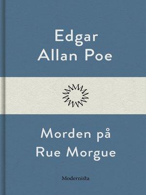 cover image of Morden på Rue Morgue