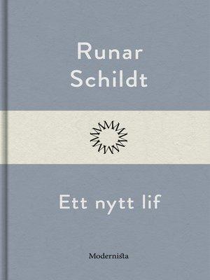 cover image of Ett nytt lif