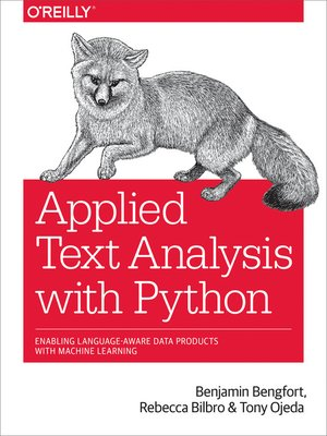 cover image of Applied Text Analysis with Python