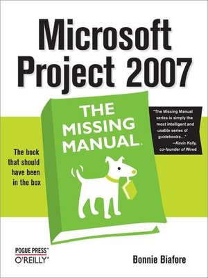 cover image of Microsoft Project 2007