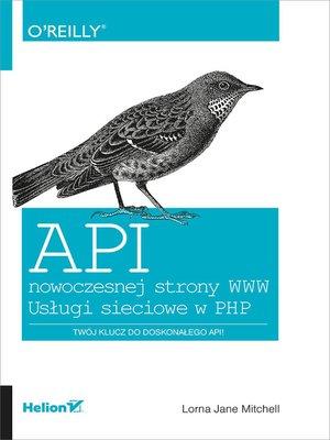 cover image of API nowoczesnej strony WWW