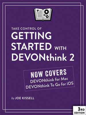 cover image of Take Control of Getting Started with DEVONthink 2
