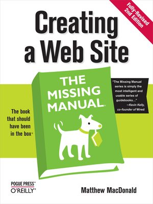 cover image of Creating a Web Site:  the Missing Manual