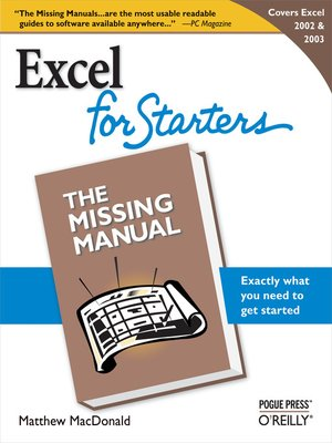 cover image of Excel 2003 for Starters