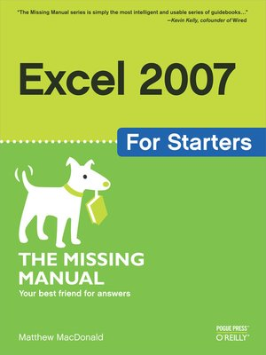 cover image of Excel 2007 for Starters