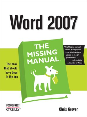 cover image of Word 2007
