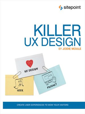 cover image of Killer UX Design