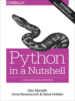 cover image of Python in a Nutshell