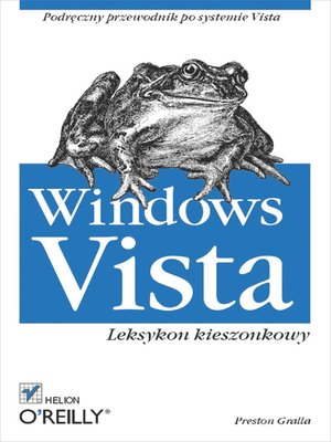 cover image of Windows Vista. Leksykon kieszonkowy