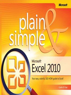 Easy Microsoft Excel 2010 Ebook