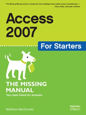 cover image of Access 2007 for Starters